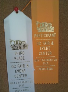 3rd Place Award OCFair 2010