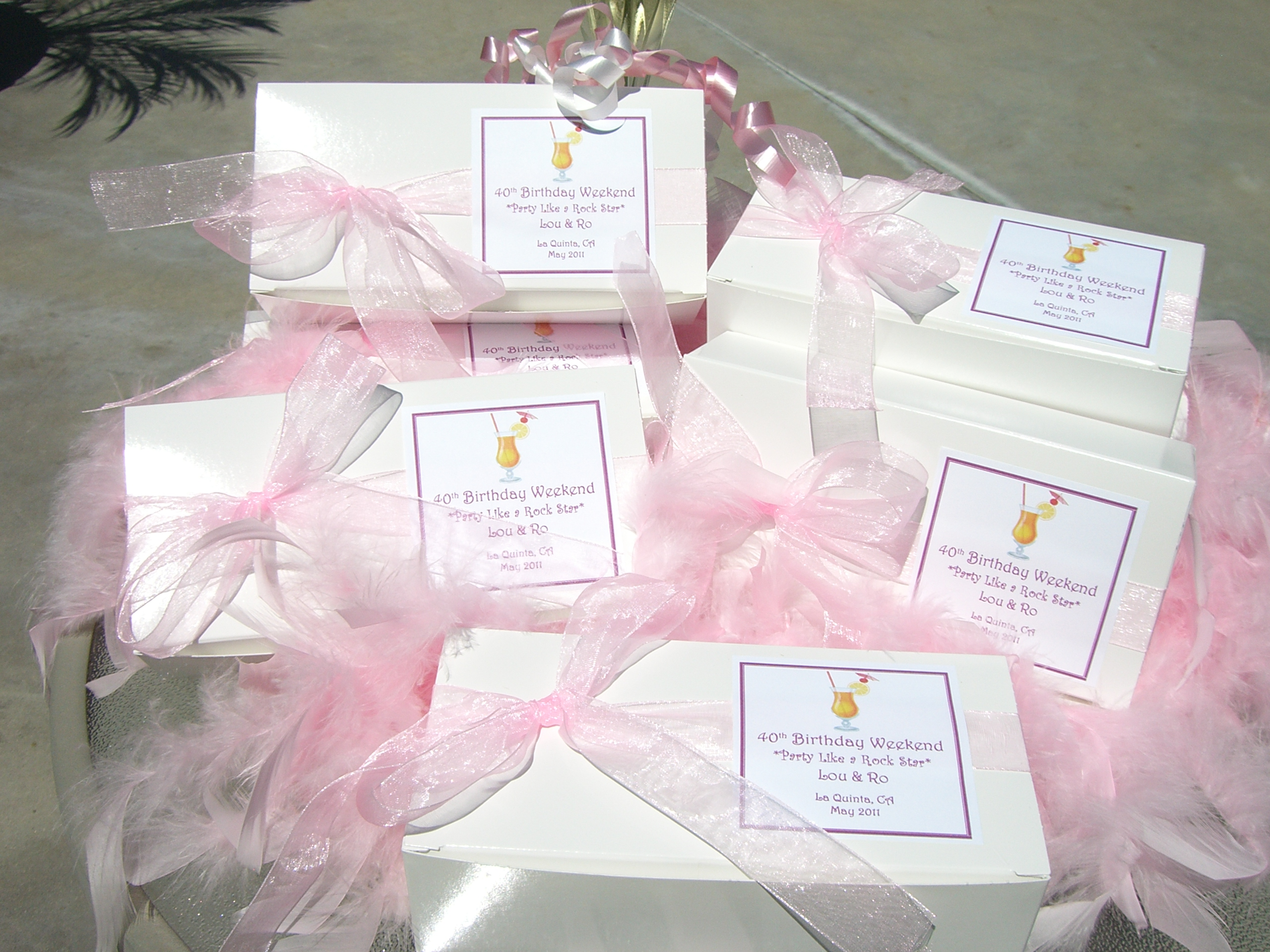 Unique Bridal Shower Hostess Gift Ideas : Gift Box of Baby Tarts for a Birthday